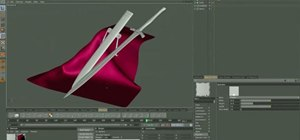 Create a sword and matching sheath in a 3-D animation program