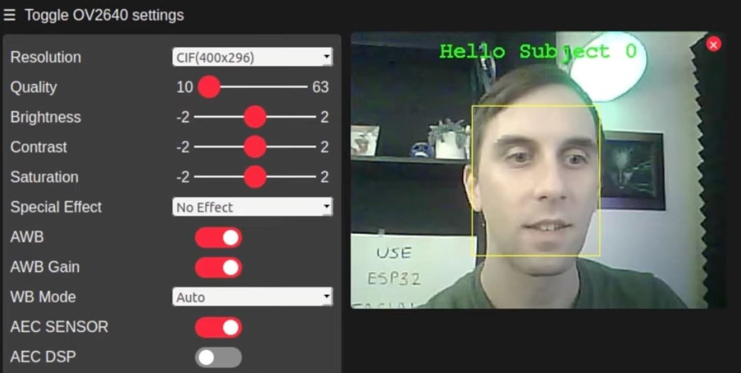 Unlock Facial Detection & Recognition on the Inexpensive ESP32-Based Wi-Fi Spy Camera
