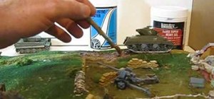 Make mud and rubble in a WW2 diorama