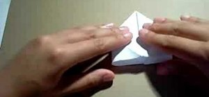 Fold a square origami box out of paper