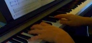 "Play ""Autumn Leaves"" on the piano"