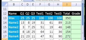 Make an Excel gradebook that removes the lowest score