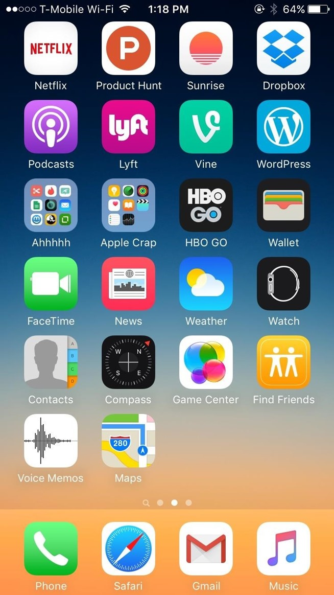 To clean up your home screens go to settings gt general scroll all