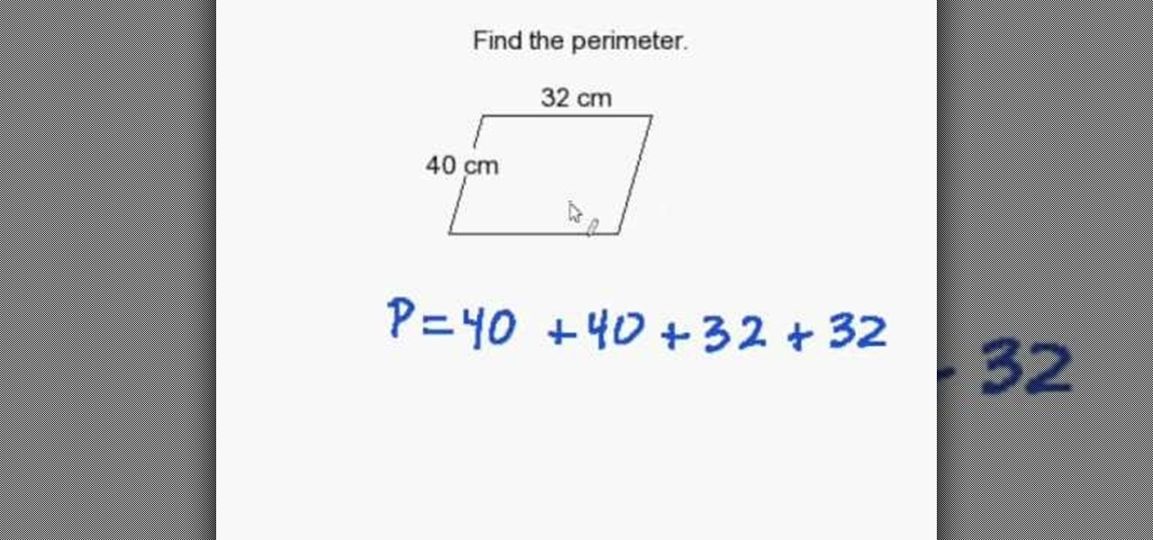 How to find the perimeter of a parallelogram math wonderhowto ccuart Gallery