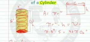 Find the volue and surface area of a cylinder