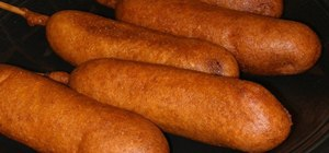 Make your own corn dogs at home