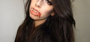 Create a sexy vampire makeup look for Halloween