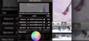 Adjust color in iMovie '08