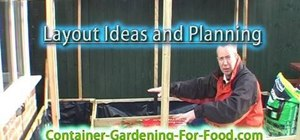 Lay out a vegetable container garden to maximize yield
