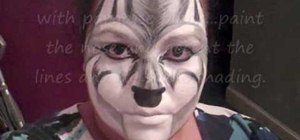 Create a cool wolf face paint mask