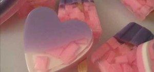 Make heart-shaped soaps for Valentine's Day