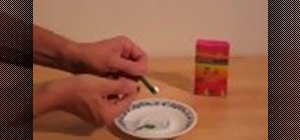 Make an emergency candle from a crayon