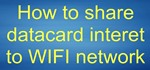 How to Share Datacard Internet to Wifi Network for Free Using Virtual Router Softwares
