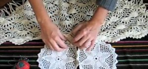 Turn doilies and an old scarf into a boho bib top