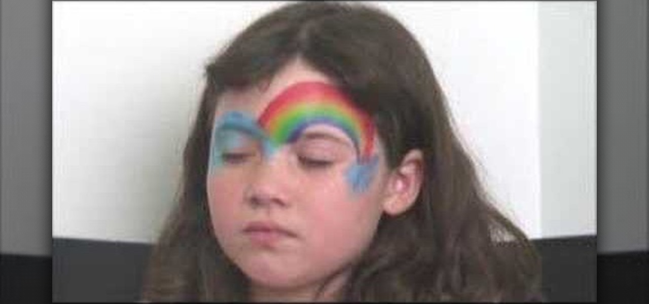 How to apply rainbow face paint kids activities for How to apply face paint
