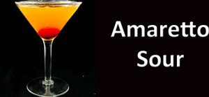 Mix an amaretto sour martini cocktail
