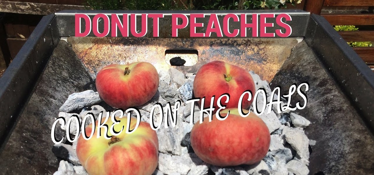 Cook Peaches on the Coals