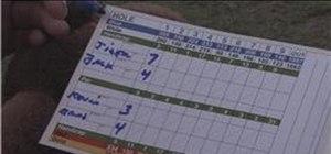 Fill in a golf scorecard