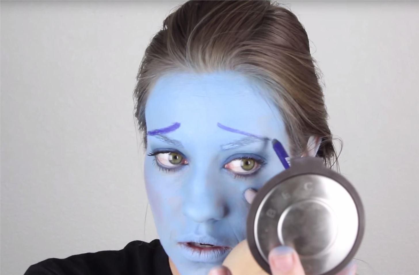 Inside Out: DIY Sadness Costume & Makeup for Halloween