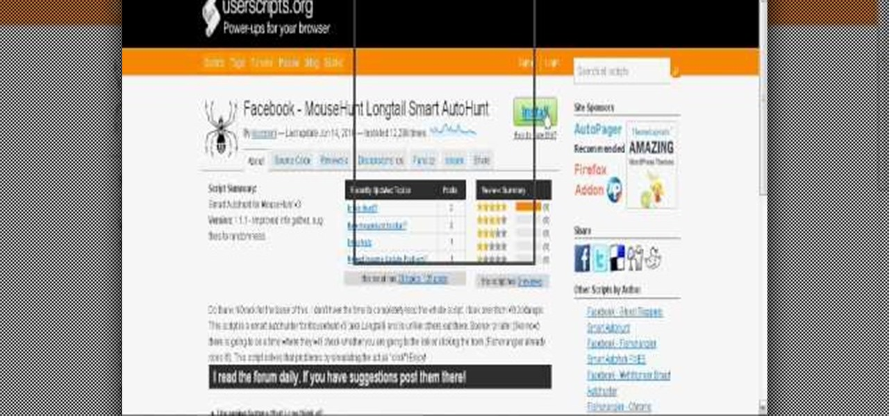 How to Autohunt in MouseHunt with Mozilla Firefox and
