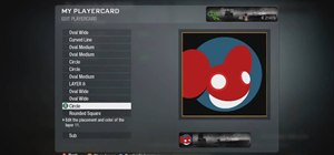 Make a Deadmau5 player card / emblem for Call of Duty Black Ops