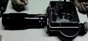 Load and film with your Bolex H16 Reflex camera
