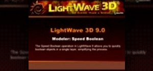 Quickly boolean objects in LightWave 9