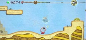 Pyramid Sands in Kirby's Epic Yarn on Nintendo Wii