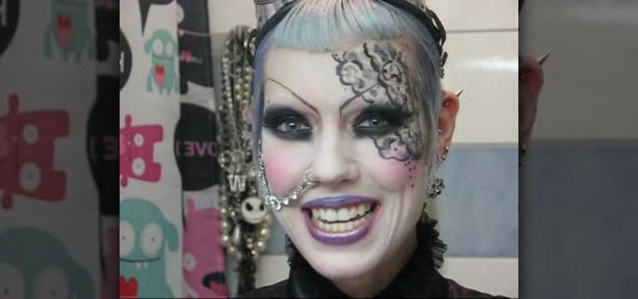 How to Apply a cosplay-inspired gothic lace makeup look ...