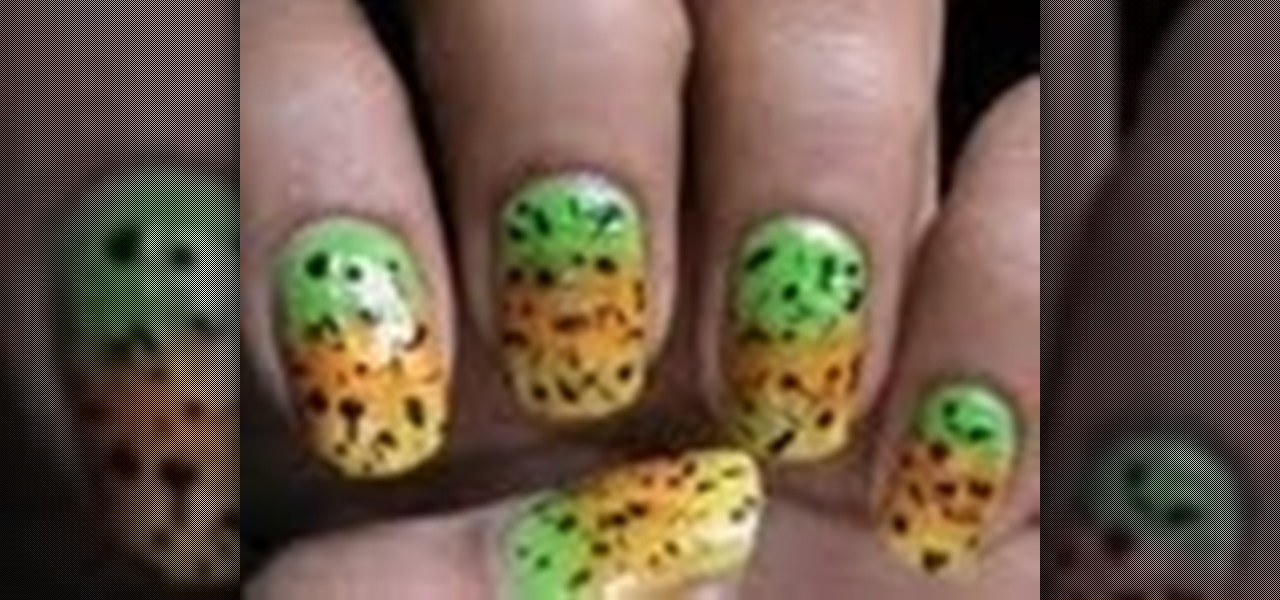 Gradient Nail Designs with Flakes