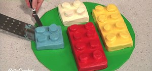 Make a building block birthday cake