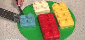 Make a building block birthday cake