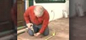 Repair floor squeaks