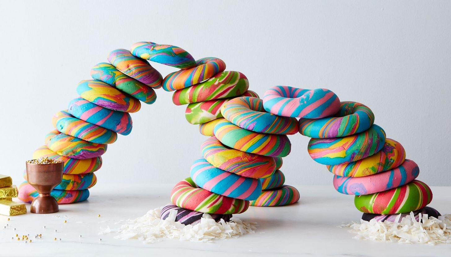 Rainbow Bagels Are Taking the Country by Storm