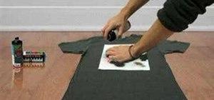 Make a stencil t-shirt