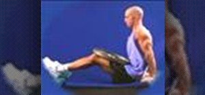 Do tricep bench dips with weights