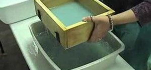 Make handmade paper using pouring method