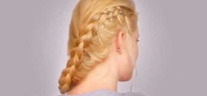 Create a romantic inside out French braid hairstyle