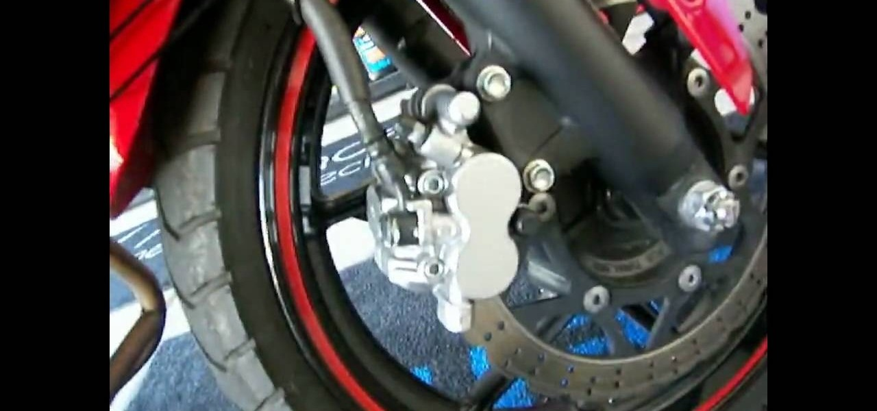 how to change the front brake pads on a motorcycle maintenance wonderhowto. Black Bedroom Furniture Sets. Home Design Ideas
