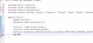 Create multiple selection list for Java development