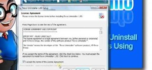 Uninstall software in Windows with Revo Uninstaller