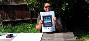 Make a foam-and-paper Apple iPad