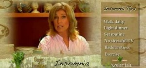 Treat insomnia with home remedies