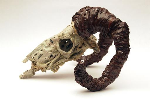 Sculpt Melted Cassette Tape Puddles Into Skulls