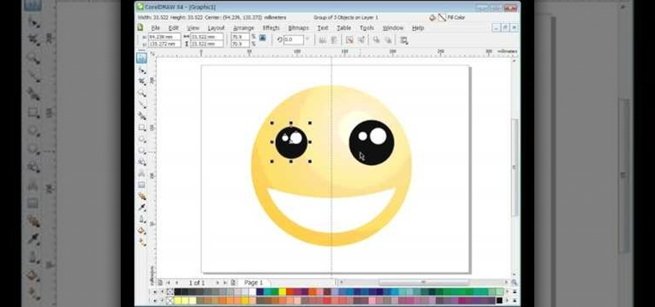 How to draw a smiley face in coreldraw x4 software tips wonderhowto