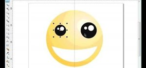 Draw a smiley face in CorelDRAW X4