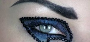 Create a sparkly glam rock look for Halloween