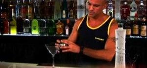 Mix a blackberry martini vodka cocktail