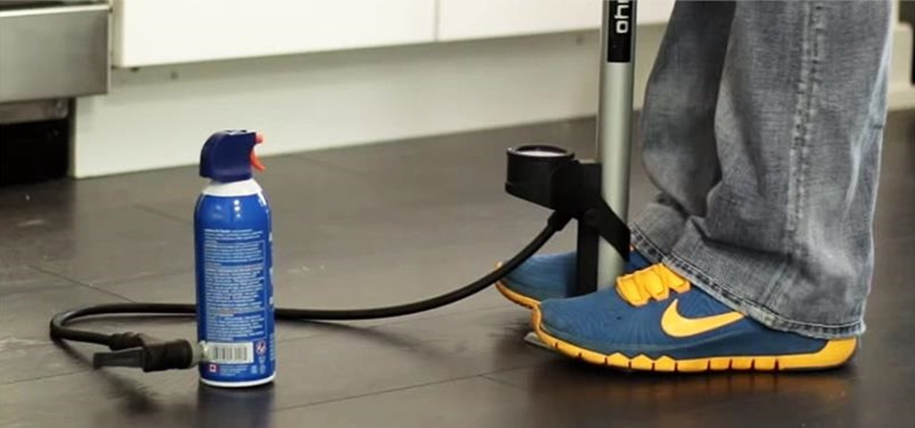 Refill an Air Duster Can with a Bicycle Pump