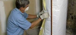 Install insulation for a water heater